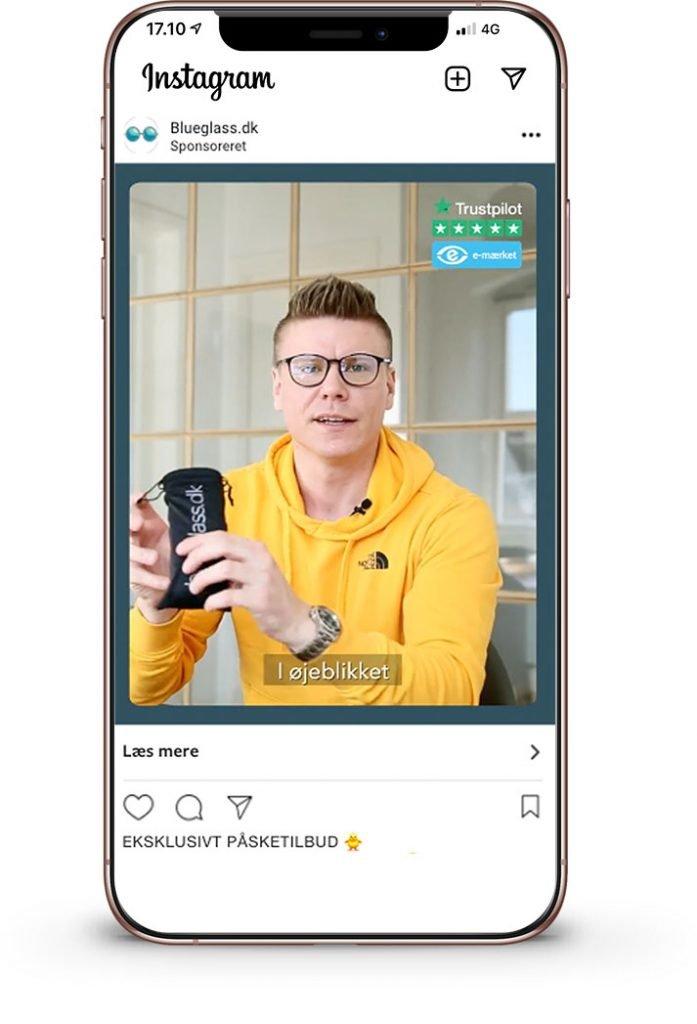 iPhone Mockup med bluglass.dk